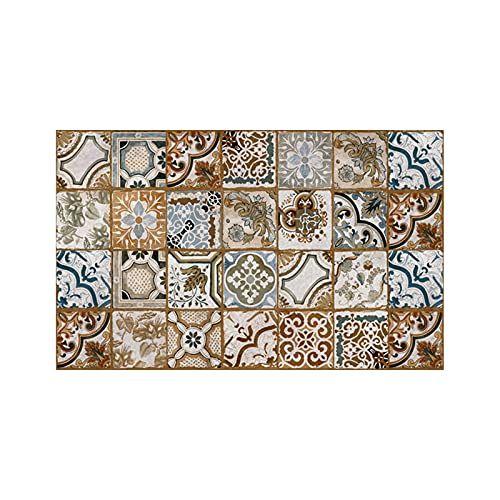 Graz Design - Adhesivo decorativo para azulejos, diseño de mosaico, 24 unidades, color amarillo, 20 x 20 cm