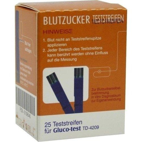 GLUCO TEST Plus Blutzuckerteststreifen 25 St
