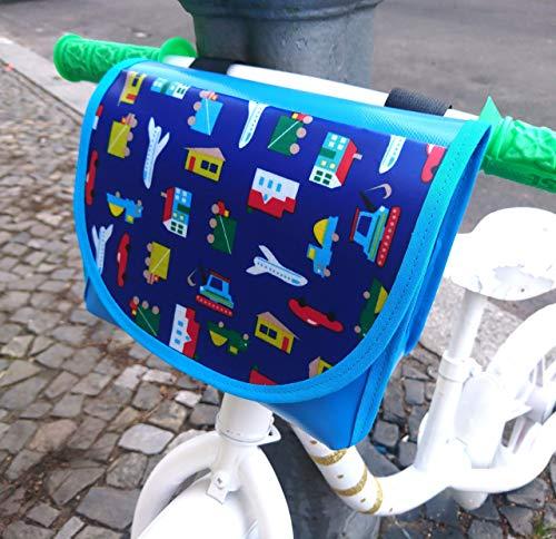 Lenkertasche, wasserdicht von TITA BERLIN, Laufrad, Kinderrad. Lenkertasche Jungs, LKW Plane, 20x10x16 cm