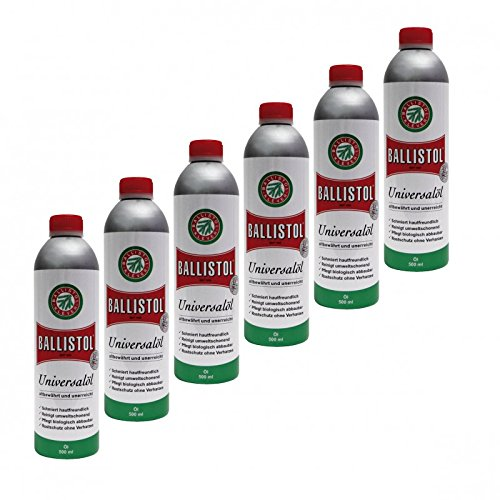 BALLISTOL 6 Dosen a Öl 500 ml, Universalöl Waffenöl Kriechöl Pflegeöl