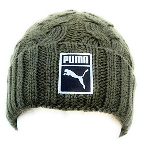 PUMA Adultos Unisex Archive Fold Beanie 021807 03 Olive Night