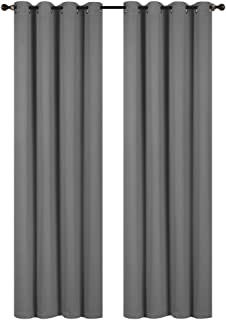 Rama Rose Blackout Curtains Room Darkening Thermal Insulated Grommets Window Curtains for Bedroom Living Room,54