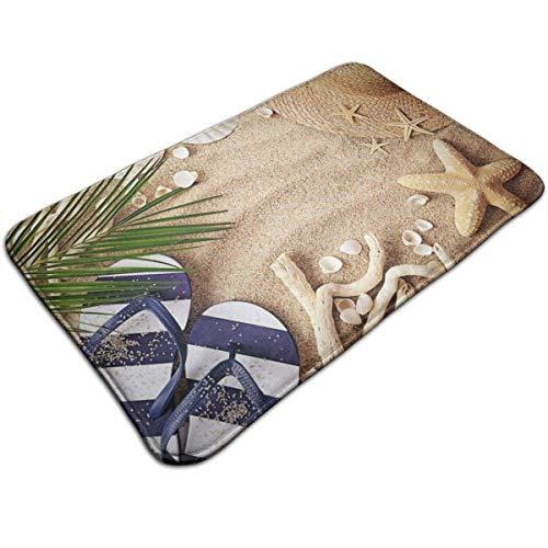 N\A Sand Beach Palm Tree Star Fish Felpudo Decoración del hogar Felpudos Antideslizantes Interior/Exterior/Puerta de Entrada/Baño Alfombras de Entrada Alfombra Personalizada Alfombra de Piso Alfombr
