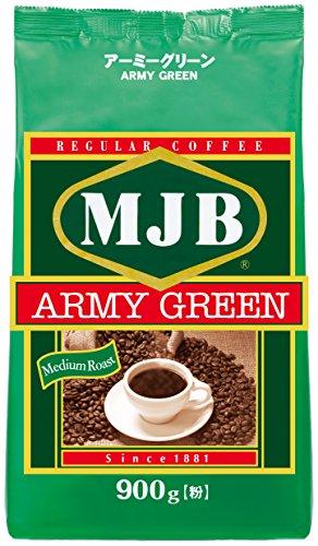 MJB コーヒー粉 MJB アーミーグリーン×900g×2袋