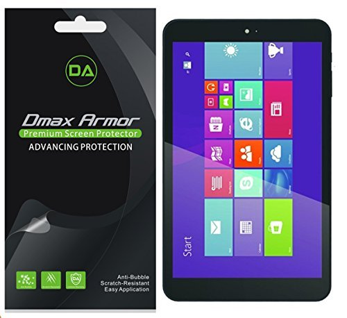 [3-Pack] Dmax Armor for DigiLand 8 inch Windows Tablet (DL801W,DL808W) Screen Protector High Definition Clear Shield