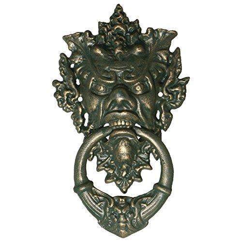 Decobay.eu Türklopfer Teufel Fratze Gothic Antik Design gruselig schöner Tür Klopfer Eisen