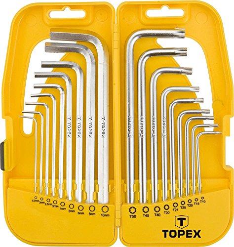 18-delige Hoeksleutel inbussleutel torx-schroevendraaier set inbus schroeven