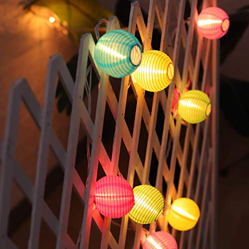 Colorful Lantern String Lights Plug in, 20CT Multicolor Lantern Lights String 18.1FT Hanging Lights for Bedroom Indoor/Outdoor Party