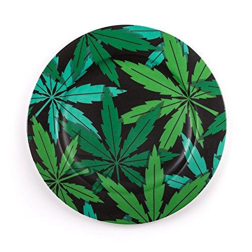 Seletti Blow Weed Assiette plate diam.27 cm Multicouleur