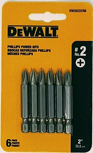 DEWALT DW2022CR6 #2 Phillips 2-inch Power Bits- 6pk Card
