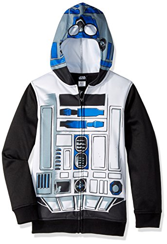 Star Wars Big Boys' R2d2 Sublimated Fleece Zip Costume Hoodie, multi, Large-14/16