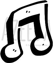 WS00032707 A4 Note de Musique Pochoir Mural