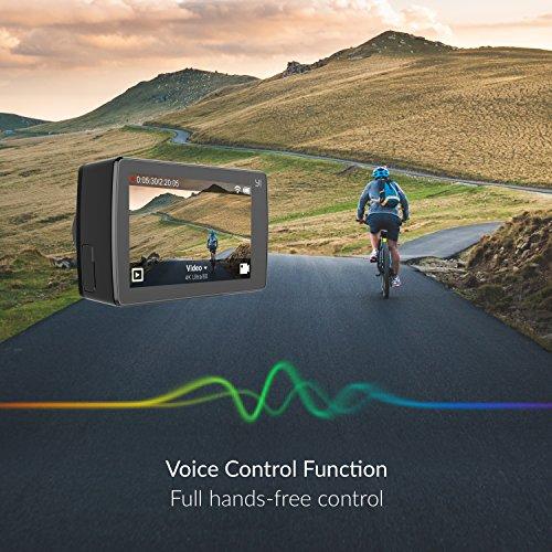 YI 4K Action Kamera Full HD 12MP Actioncam WIFI mit 155° Weitwinkel Schwarz - 2