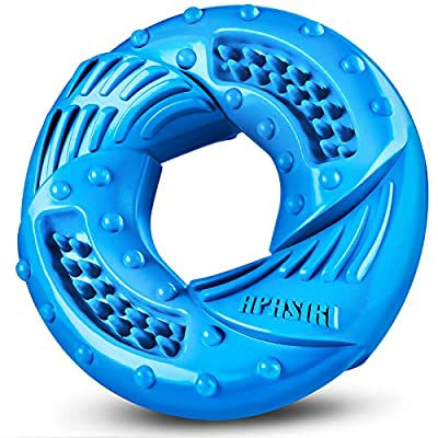 Apasiri Dog Chew Toy Durable Dog Toy for Large Breed Tough Rubber Ring Dog Toys for Extreme Dog Toys for Aggressive Chewers Almost Indestructible Dog Toys Best Gift (Blue)