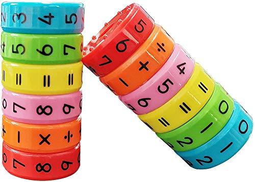 Rechenrolle Mathematik Lernspielzeug Magnetisches Spielzeug zum Rechnen Lernen für Kinder Würfel Spielzeug, Kinder Intelligenz Gehirn Entwickeln Kindergarten Belohnung Spielzeug - 3PCS
