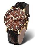 Vostok Europe Damenuhr Chronograph mit 3 Armbändern Undiné Lady Line VK64-515B569