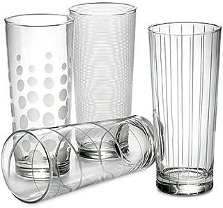 Mikasa Cheers Highball Glasses (Set of 4) made of Glass, 19-3/4 oz