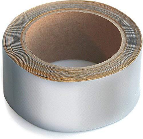 WUPSI PVC Reparatur Klebeband Für Alle Planen Und Folien, Silber, 5 Cm X 5 M