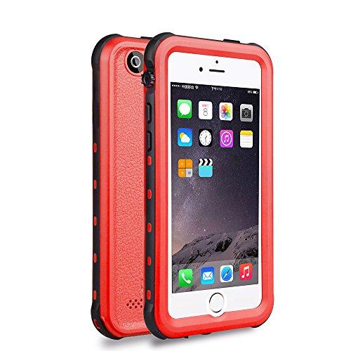 iPhone 6S Plus/6 Plus Waterproof Case, Dooge Shockproof Dirtproof Snowproof Rain Proof, Heavy Duty Full Protection Phone Case Cover Rugged IP68 Certified Waterproof Case for iPhone 6S Plus/6 Plus 5.5'