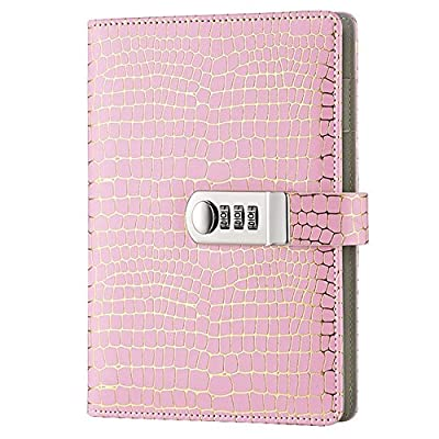 Pale Pink Locking Diary