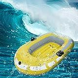 Cikonielf Barco para dos personas hinchable, kayak hinchable plegable, canoa hinchable de PVC ecológico, carga máxima: 90 kg, 159 x 64 cm