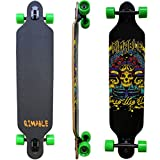 RIMABLE Drop-Through Longboard 41Inch (Black Skull)