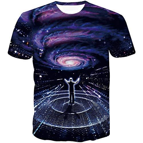 Sykooria Herren Tshirts Tees Kuazarm 3D Galaxy Personalisierte Stylish Unisex Sommer Lusting Tee T-Shirt