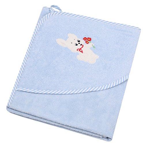 Betz Toalla con Capucha Infantil Perrito con Flor 100% algodón