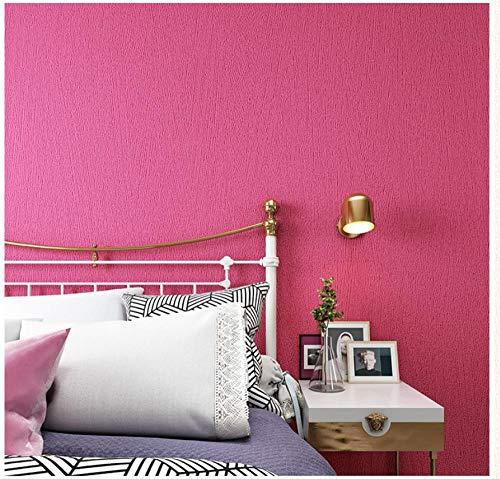 Tapete Einfache einfarbige 3d 0.53 x 9.5 m-pink Vliestapete Wohnzimmer Schlafzimmer Restaurant Fernseher Sofa Hintergrund Wand Hintergrundbild Haus Dekoration