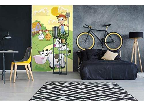 Vlies Fotobehang BOERDERIJ | Niet-Geweven Foto Mural | Wall Mural - Behang - Reusachtige Wandposter | Premium Kwaliteit - Gemaakt in de EU | 150 cm x 250 cm