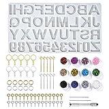 Moldes Silicona Resina Epoxi, Jolintek Alfabeto Números Resina Epoxi Transparente Manualidades,...