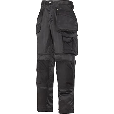 """Snickers 32120404104 Size 104 """"DuraTwill"""" Craftsmen Trousers - Black"""