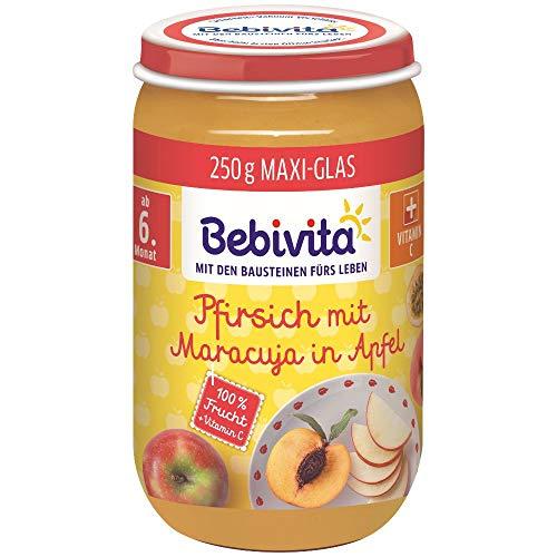 Bebivita Früchte Pfirsich mit Maracuja in Apfel, 250 g