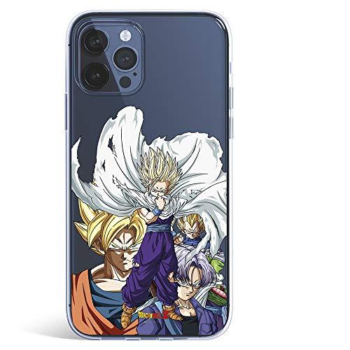 Funda para iPhone 12 - iPhone12 Pro Oficial de Dragon Ball Guerreros Saiyans para Proteger tu móvil. Carcasa para Apple de Silicona Flexible con Licencia Oficial de Dragon Ball.