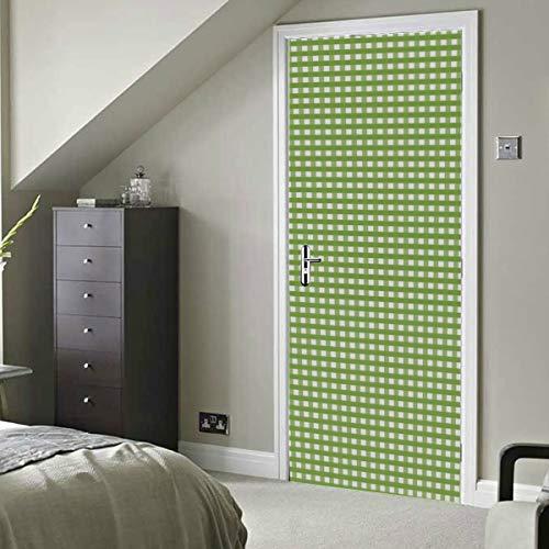 Cuadros de tela a cuadros de cuadros de cuadros vichy Vinilo autoadhesivo Papel tapiz removible fácil Papel tapiz de comedor 30x79 pulgadas (77x200cm) 2 piezas