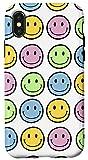 iPhone X/XS Retro Vibe Multi Color Happy Face Smiley Face Graphic Case