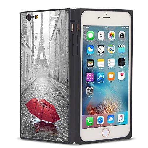 FAUNOW Funda cuadrada para teléfono iPhone 6/6S Plus Torre Eiffel Anti-choque protectora flexible Premium cubierta para iPhone 6/6S Plus