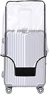 Yotako Clear PVC Suitcase Cover Protectors 24 28 30 Inch Luggage Cover for Wheeled Suitcase (24''(16.3.''L x 10.6''W x 22.4''H))