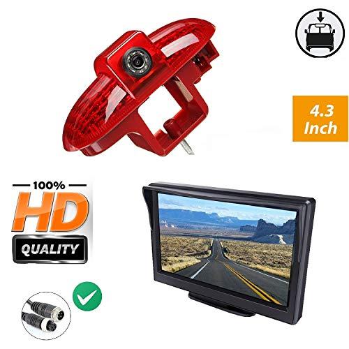 """Misayaee Auto Dritte Dach Top Mount Bremsleuchte Kamera Bremslicht Rückfahrkamera für Renault Trafic,Opel Combo,Vauxhall Vivaro +4.3\"""" Zoll DVD Monitor TFT Bildschirm LKW KFZ LCD Display"""