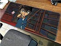 マウスパッドコナンアニメゲーミングマウスパッド大型コンピューターマウスパッド漫画XXLキーボードデスクマウスゲーマーマット-90cmx40cm_(E)