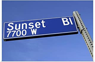 GREATBIGCANVAS Poster Print Sunset Boulevard Sign by 18