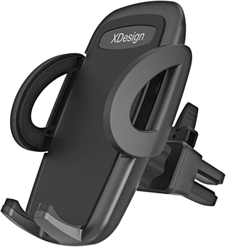 XDesign Air Vent Car Mount Premium Universal Phone Holder Cradle Compatible with iPhone Xs Max R 8 Plus 7 6s 6 SE Sam...