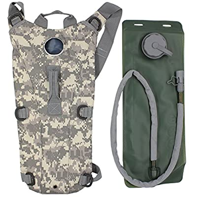 KENMAX US Army 3L 3 Liter (100 ounce) Hydration Pack Bladder Water Bag Pouch Hiking Climbing Survival Outdoor Backpack