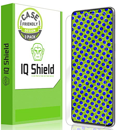 IQ Shield Screen Protector Compatible with Samsung Galaxy S20 Ultra (6.9 inch)(3-Pack)(Case Friendly) Anti-Bubble Clear Film