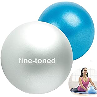 "fine-toned 2 X -EXER SOFT PILATES BALLS 7"" and 9"" -ANTI-BURST + EXERCISE INSTRUCTIONS -strong/anti slip -SOFT OVER BALL/MINI PILATES BALL/PILATES GYM BALL- NEW!!!"