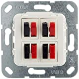 Gira 569403 - Conector para Altavoz (4 entradas), Color Blanco