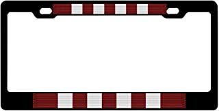 Gghuqunany Graphics Printing License Plate Frame, Aluminum Metal License Plate Frame with Screw Caps - 2 Holes Car License Plate Cover for US Vehicles