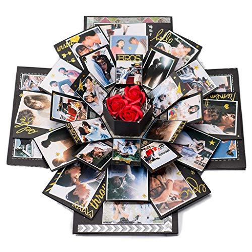 Moent Hexagonal Love Album Album Alben sind für Geburtstag Sanniversaries Hochzeiten konzipiert, einfach zu Falten Home DIY