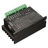 ステッパー モータードライバ コントローラー,SODIAL(R)20KHZ CNC単軸TB6600 2/4相ハイブリッドステッピング モータドライバ コントローラ 黒