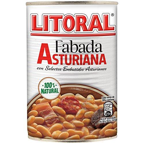 LITORAL Fabada Asturiana - Plato Preparado de Fabada Asturiana Sin Gluten - 435g